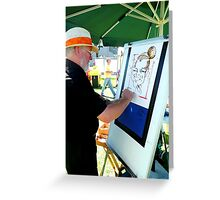 Artist at work Greeting Card