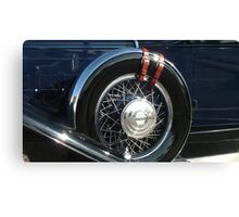 """Pierce Blue - $12,000 Tire"" Canvas Print"