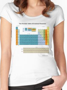 The Periodic Table of Irrational Nonsense (Light) Women's Fitted Scoop T-Shirt