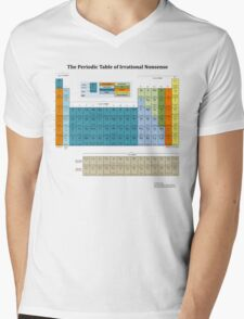 The Periodic Table of Irrational Nonsense (Light) Mens V-Neck T-Shirt