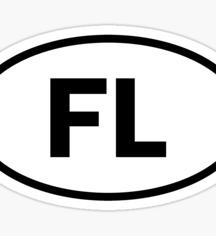 Florida - FL - oval sticker Sticker