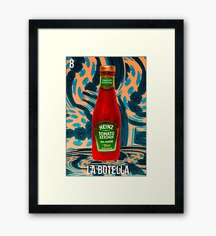 LOTERIA- LA BOTELLA Framed Print