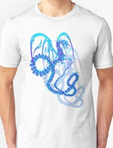 Electric Blue Dragon Shadowed  T-Shirt
