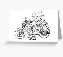 Greaser Biker sketch Greeting Card