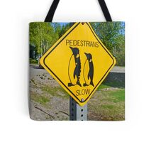 Slow Pedestrians Tote Bag