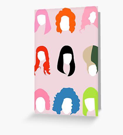 Nicki's Hair Greeting Card