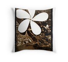 Plumeria Stone - Delicate contrast Throw Pillow