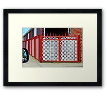 Colorful Fence and Gate Framed Print