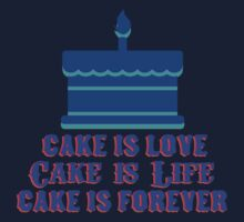 Cake is life, Cake is love by PsychwaveGaming