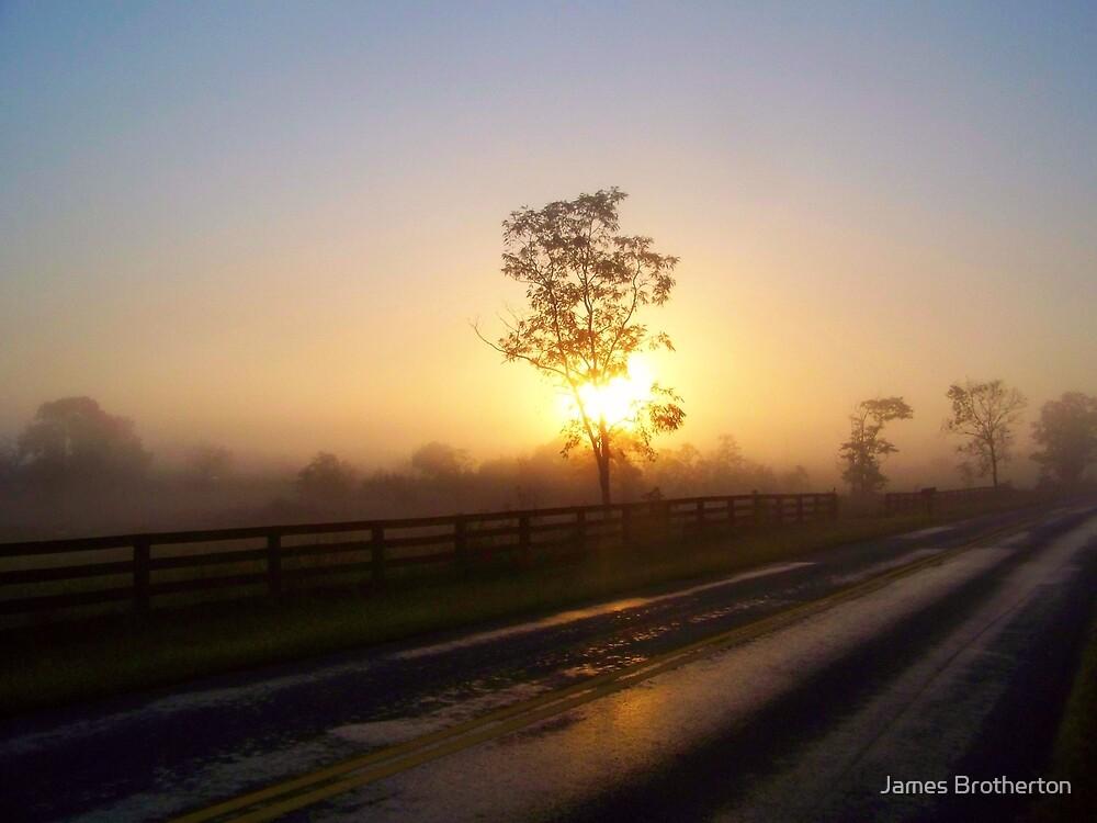 Foggy Sunrise by James Brotherton