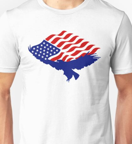 AMERICAN FLAG BALD EAGLE USA PATRIOTIC SYMBOL Unisex T-Shirt