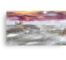 Icy Canyons Canvas Print