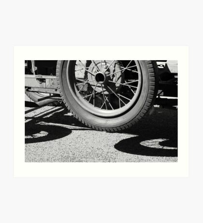 Three wheeler?..........chasis of a vintage Ford Art Print