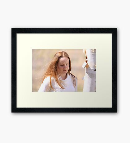 The Sun Lights Angela Framed Print