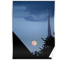 Moonlit Steeple Poster