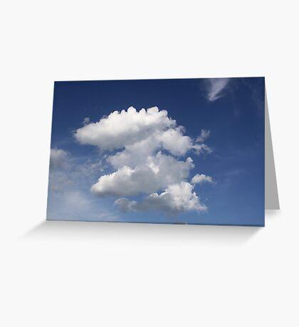 Blue Skies - Esker Beach, Groton, Connecticut Greeting Card