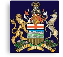 Coat of Arms Alberta Canvas Print