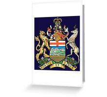 Coat of Arms Alberta Greeting Card