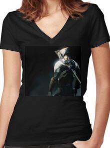 Warframe Women's Fitted V-Neck T-Shirt