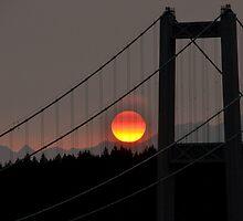 Fiery Sunset by Jerome Petteys
