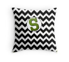 Tilted Letter S Throw Pillow