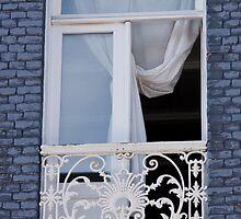 Blue Brick Window by phil decocco