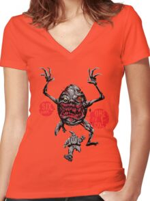 Dawn of the Dumpty: Six Dwarves Down... Women's Fitted V-Neck T-Shirt