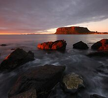 Sunrise over Stanley by Stephen Gregory