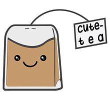 Sassy Tea Puns: Cute-Tea by kimchizerbe