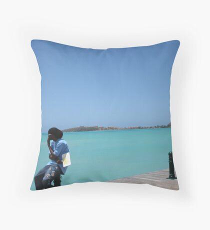St Martin - A Tropical Paradise Throw Pillow