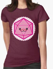 Critically Cute - D20 Kawaii Die Womens Fitted T-Shirt