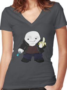 Adipose as the 9th Doctor Women's Fitted V-Neck T-Shirt