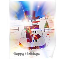 A Snowman's Christmas #1 ~ Happy Holidays Poster