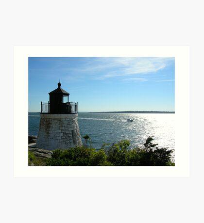Lighthouse in Rhode Island Art Print