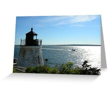Lighthouse in Rhode Island Greeting Card