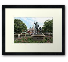 Partners Statue Disneyland Castle Framed Print