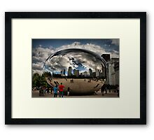 Skyline Bubble Framed Print