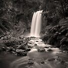 Hopetoun Falls_Black and White version by Sharon Kavanagh
