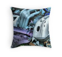 OLD BUMPERS & PURPLE DOOR Throw Pillow