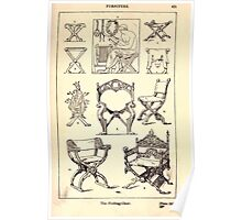 A Handbook Of Ornament With Three Hundred Plates Franz Sales Meyer 1896 0451 Furniture Folding Chair Poster