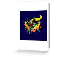 Pixel Retro Robin Greeting Card