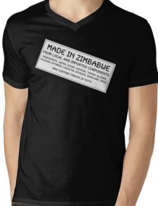 Traces Of Nuts - Zimbabwe, Funny Mens V-Neck T-Shirt