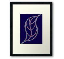 Leaf - blue red Framed Print