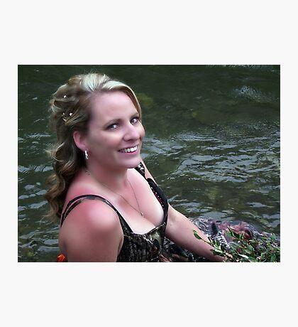 Redneck Bride Photographic Print