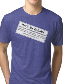 Traces Of Nuts - Taiwan, Funny Tri-blend T-Shirt