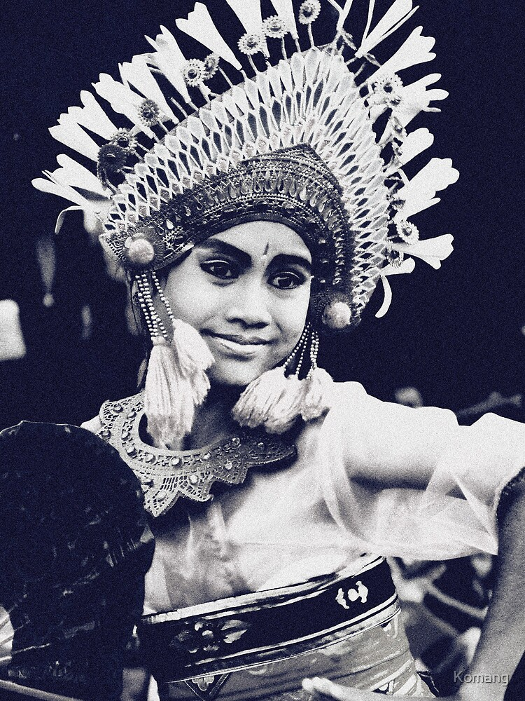 Balinese Dancer - expression of young dancers by Komang