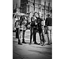 Punks in London: Punk Rockers Photographic Print