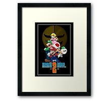 Pixel Super Mario Bros. 2 Framed Print