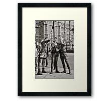 Punk Rockers in London, UK. Framed Print