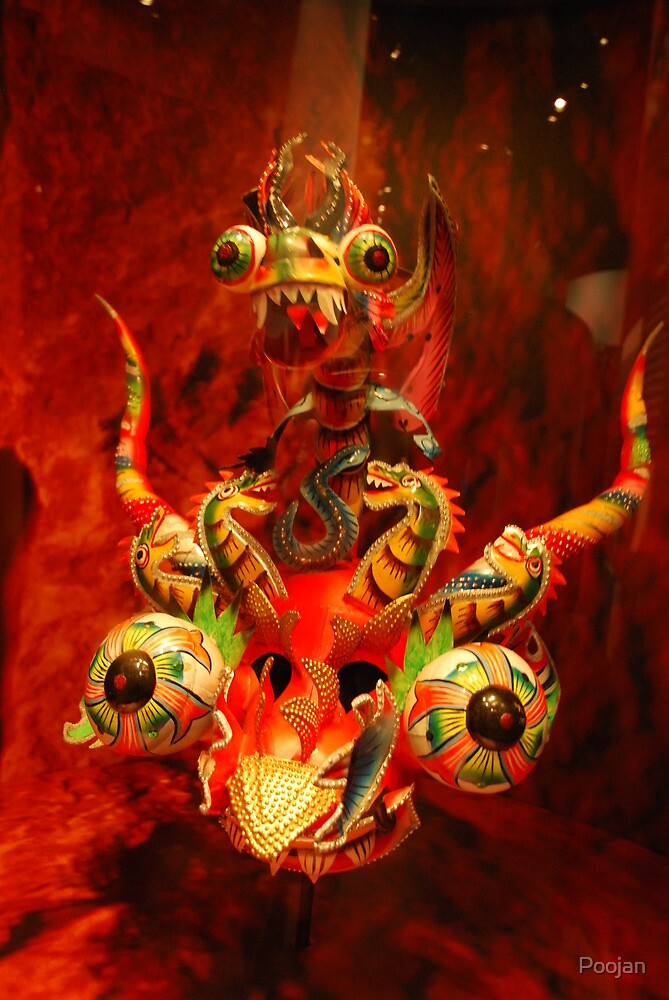 Red Dragon...brings luck by Poojan